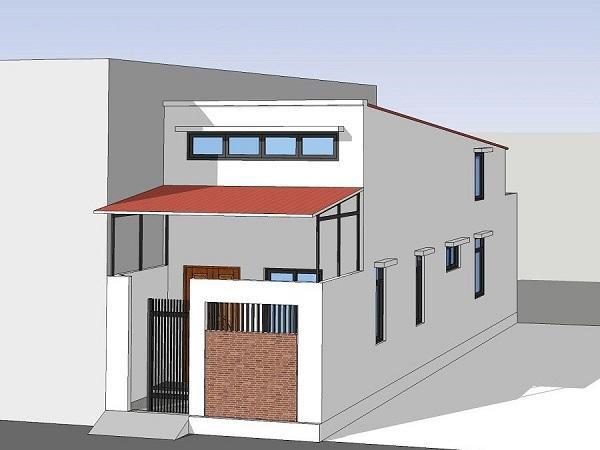 Thiết kế nhà cấp 4 nông thôn mái tôn