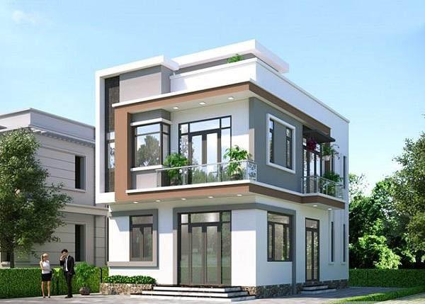 Kiến trúc ngôi nhà 2 tầng hiện đại, sang trọng