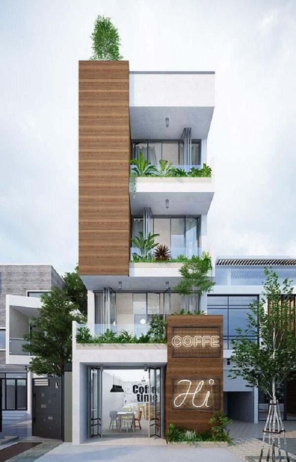 Mặt tiền nhà 4 tầng 6m