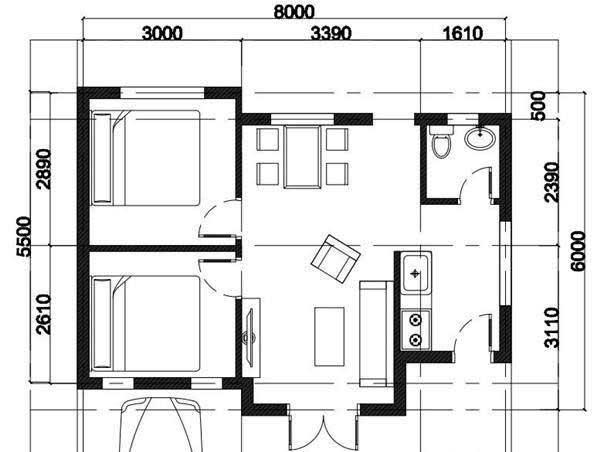Bản vẽ thiết kế nhà cấp 4 khoảng 150 triệu
