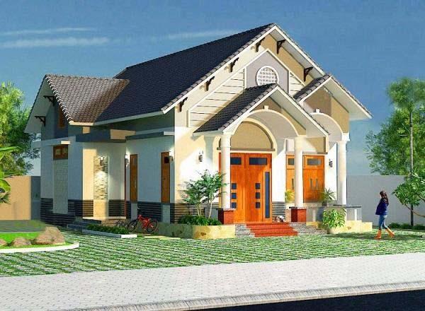 Mẫu nhà cấp 4 có 4 phòng ngủ và phòng thờ