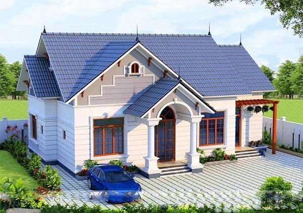 Mẫu nhà cấp 4 100m2 thiết kế kiểu nhà vườn