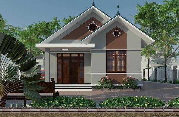 Mẫu thiết kế nhà cấp 4 dạng mái thái