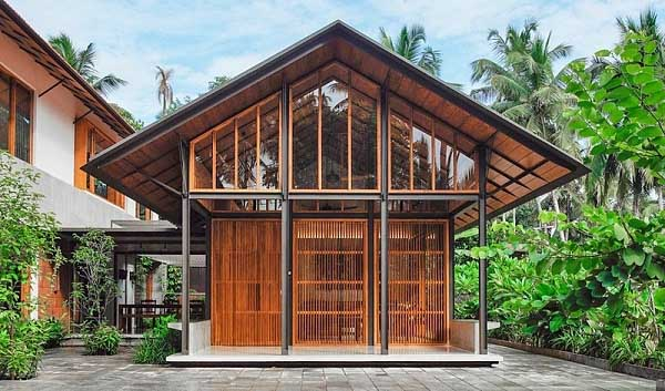 Mẫu thiết kế nhà cấp 4 mái nhà gỗ