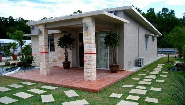 Thiết kế nhà cấp 4 mái bằng kiểu nhà vườn