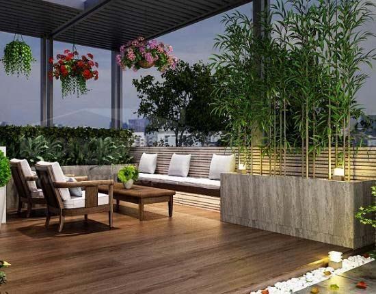 Lợi ích khi thiết kế vườn trên sân thượng