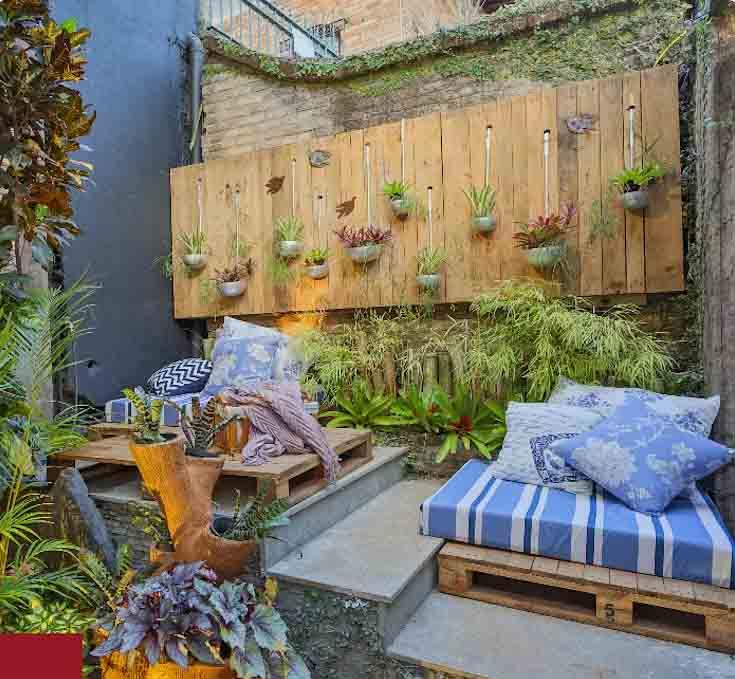 Thiết kế vườn ốc đảo trên sân thượng
