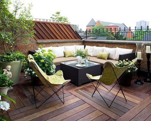 Thiết kế phòng khách trên sân thượng