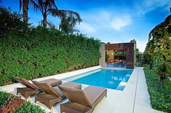 Thiết kế sân vườn sân thượng có hồ bơi