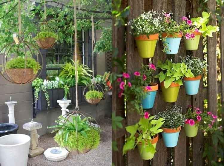Thiết kế sân vườn trên sân thượng với các loại hoa