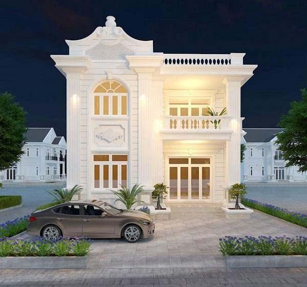 Mẫu nhà 2 tầng phong cách tân cổ điển