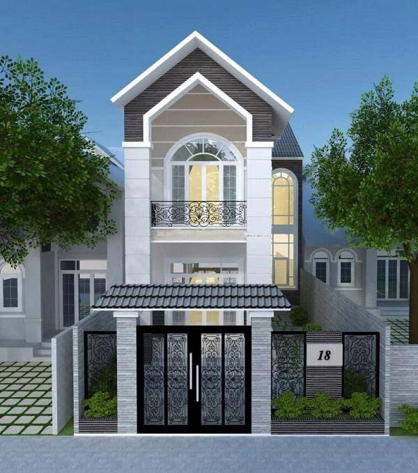 Thiết kế nhà 2 tầng giá 400 triệu mái thái