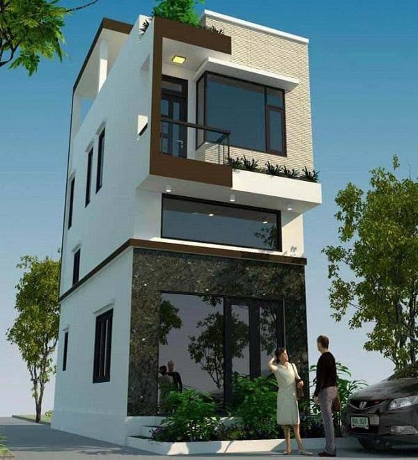 Thiết kế nhà 2 tầng giá 400 triệu có gác lửng