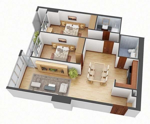 Thiết kế nhà cấp 4 mái thái 300 triệu 3 phòng ngủ