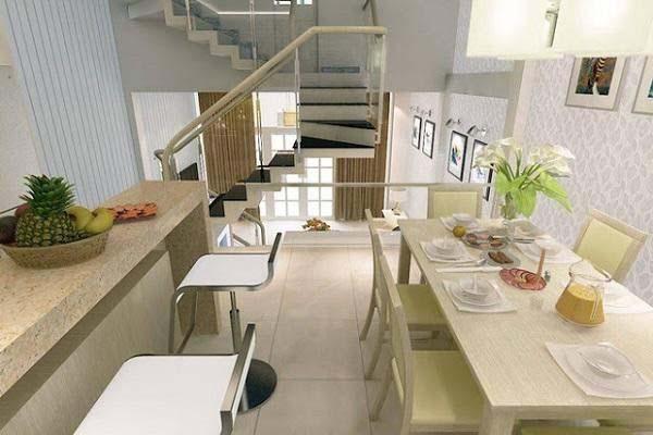 Nhà bếp nhà ống 40m2 thiết kế 2 tầng lệch tầng