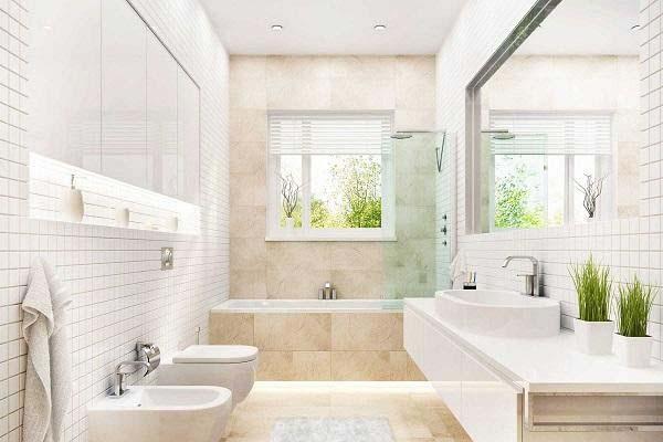 Nhà vệ sinh nhà ống 40m2 thiết kế 2 tầng lệch tầng