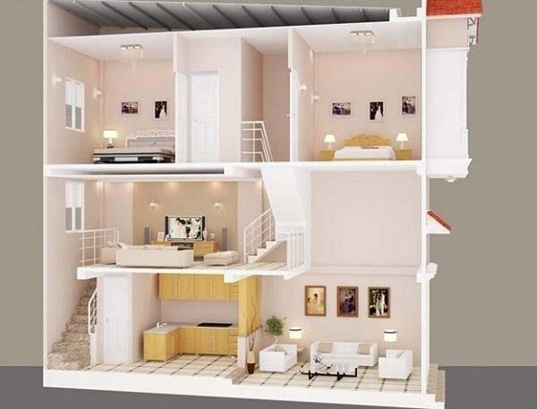 Tham khảo 10 thiết kế nhà 2 tầng có gác lửng đẹp nhất hiện nay