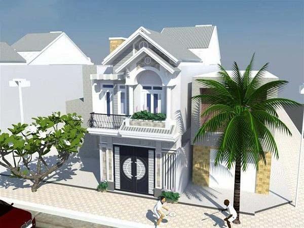 Mẫu nhà mái thái 2 tầng dạng nghỉ dưỡng