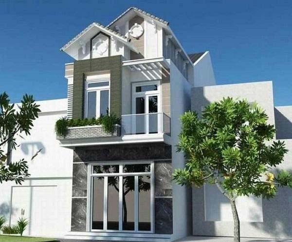 Một mẫu nhà 2 tầng mái thái phổ biến