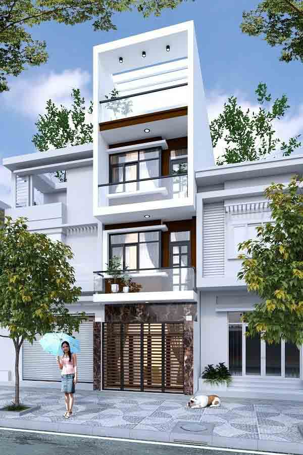Mẫu thiết kế nhà 3 tầng 1 tum