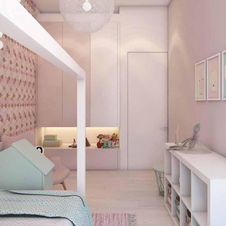 Mẫu phòng ngủ cho bé gái chung cư