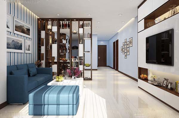 Mẫu phòng khách nhà ống 4m đơn giản, ngập tràn ánh sáng