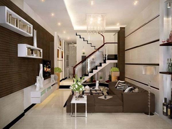 Tham khảo những mẫu thiết kế phòng khách nhà ống 4m đẹp nhất hiện nay