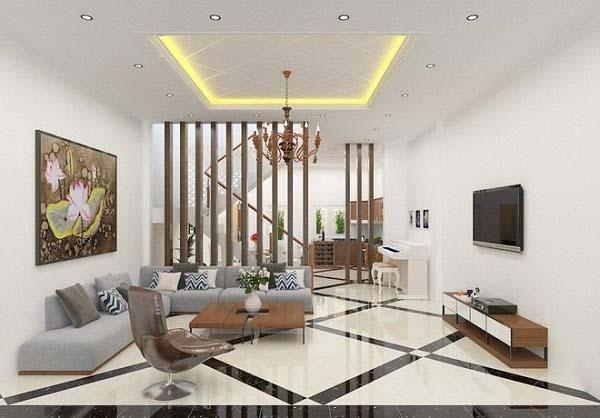 Phòng khách nhà ống 4m đẹp