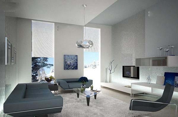 Cần chú ý đến ánh sáng khi thiết kế phòng khách nhà cấp 4