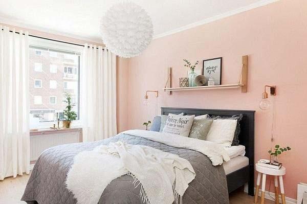 Thiết kế phòng ngủ với gam màu hồng mộng mơ