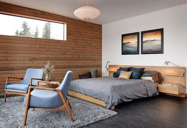 Một phòng ngủ hiện đại với sự mềm mại của các món đồ nội thất
