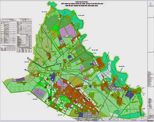 Bản đồ quy hoạch các quận huyện TPHCM