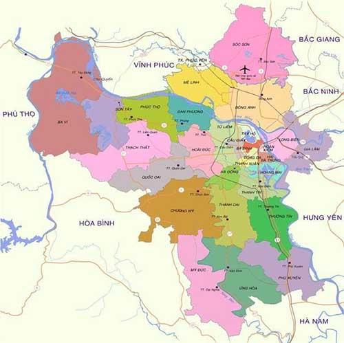 Thông tin bản đồ quy hoạch Hà Nội mới nhất