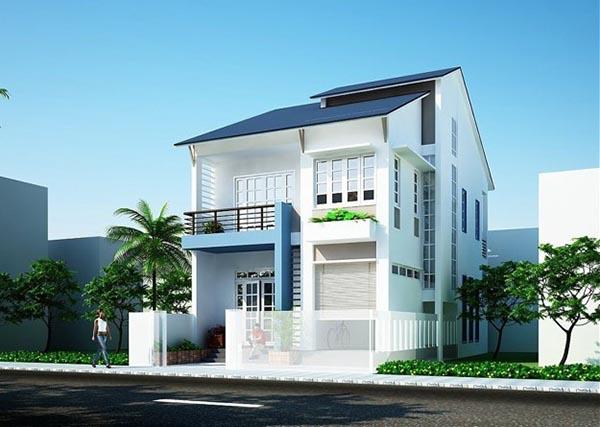 Sáng tạo cách phối màu sơn nhà đẹp lạ với màu xám ghi - xanh