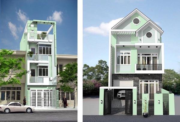 Phối màu sơn nhà đẹp nhất hiện nay với màu xanh lá – trắng