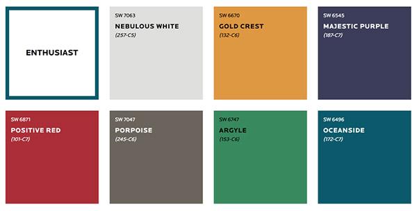 Gam màu sơn đa sắc phù hợp cho người có sở thích tươi vui, phóng khoáng